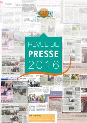 Revue de Presse 2016